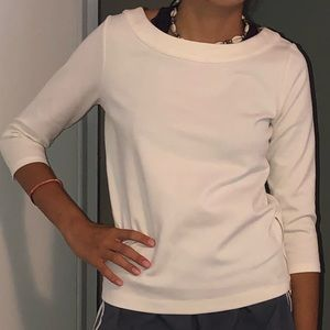 Ann Taylor white blouse with side zippers